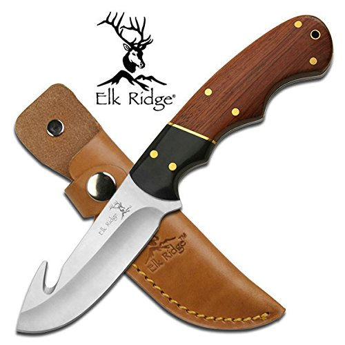 Personalized Free Engraving Quality Elk Ridge Knife with Wood Handle (ER-198)