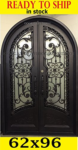 IRON DOORS (Wrought Front tempered Glass) 62''X96'' DGD1201RBP ()