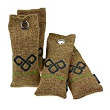 VITCHELO All Natural Bamboo Charcoal Bag Air Purifier Moisture Absorber Car Freshener & Closet Deodorizer. Best for Home Bathroom Refrigerator Luggage Laundry Bag - Shoe Deodorizer (4 x 75g, Brown)
