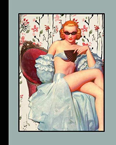 Retro illustration journal: Unique designed dot grid Journal for the retro illustration lover - kitsch lady draped on chaise lounge ()