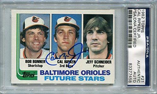 Cal Ripken Jr. Rookie Baltimore Orioles PSA/DNA Autograph - 1982 Topps (Autographed Baseball Cards)