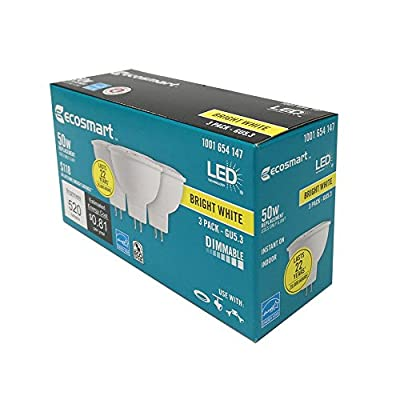 50W Equivalent Bright White MR16 GU5.3 Dimmable LED Light Bulb (3-Pack)