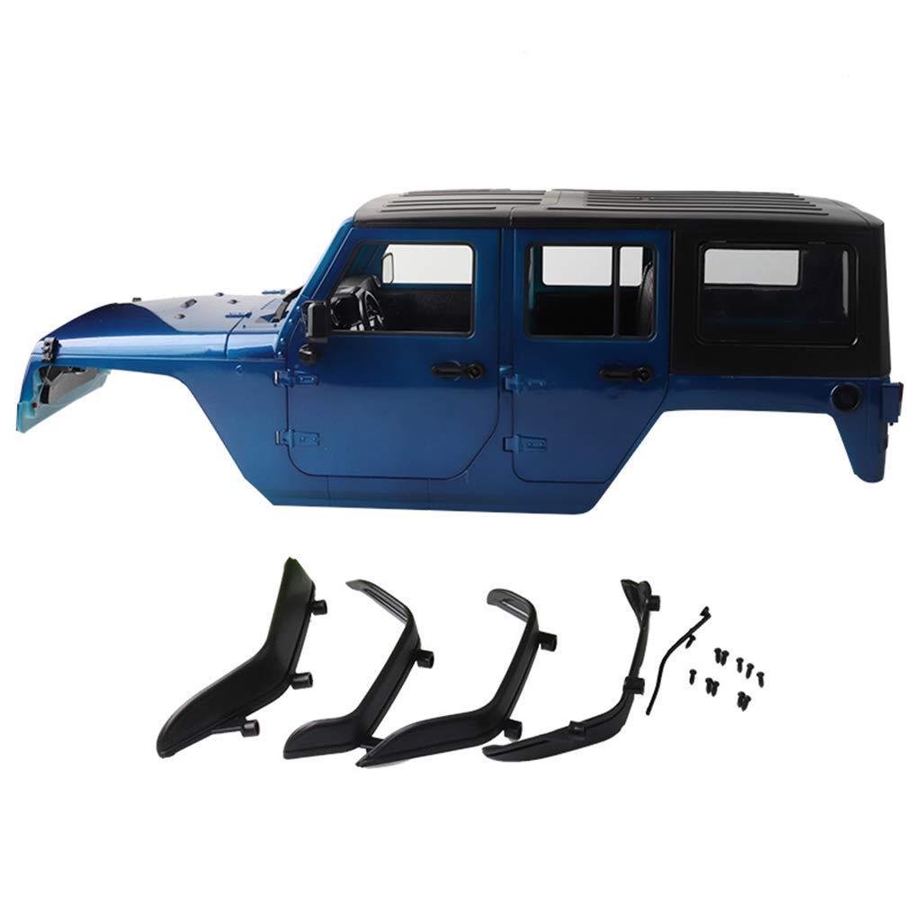 Dabixx RCカーシェル, RCロッククローラー1/10ボディシェル(アキシャルSCX10用)RC4WD D90 D110ホイールベース313mm DIYカーアクセサリー - 青 B07KQB9W9S