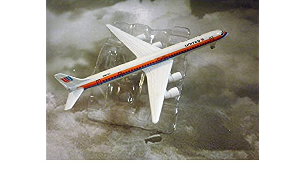 Amazon Com United Airlines Douglas Dc 8 71 Jet Plane 1 600 Scale Die Cast Plane Made In Germany By Schabak Toys Games