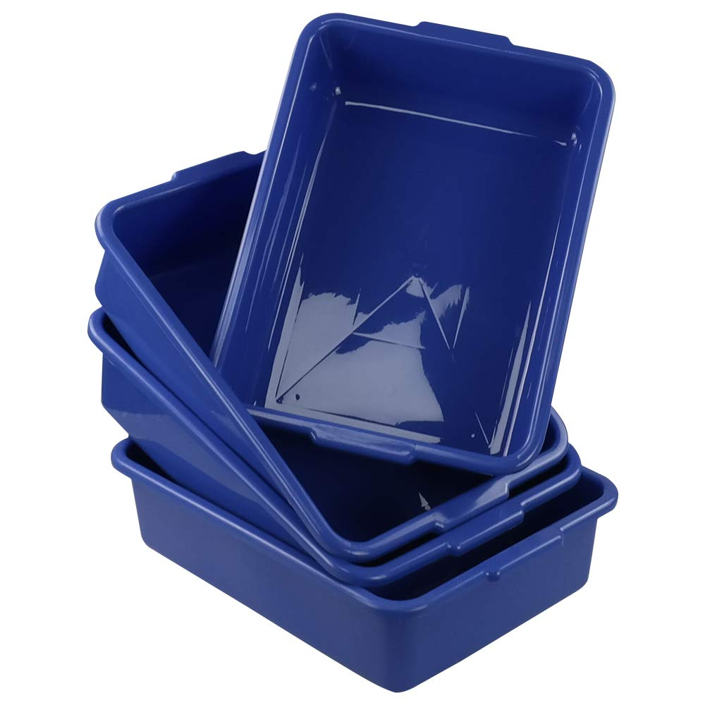 Blue Utility Commercial Bus Box 4 Packs Hespapa 13L Wash Tub Basin