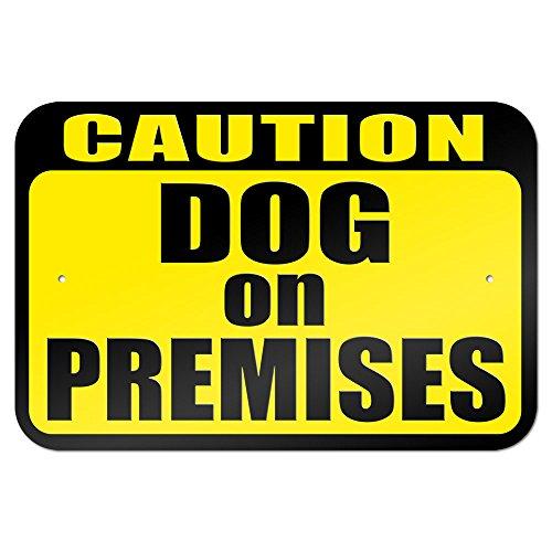 Caution Dog Premises Metal Sign