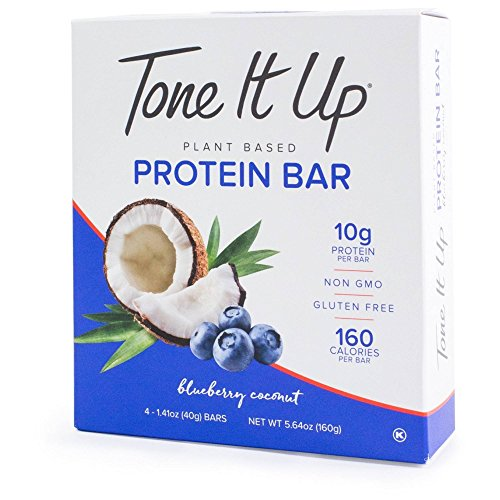 Tone It Up Protein Bars Blueberry Coconut 1.41ozx4 ( total 5.64oz)