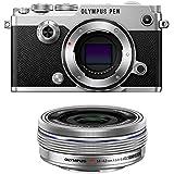 Olympus PEN-F Mirrorless Micro Four Thirds Digital Camera with Olympus M.Zuiko Digital ED 14-42mm f/3.5-5.6 EZ Lens (Silver)
