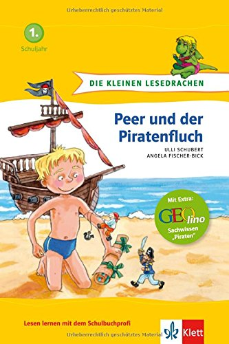 Die kleinen Lesedrachen, Peer und der Piratenfluch, 1. Lesestufe, ab 1. Klasse für Leseanfänger