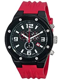 Joshua & Sons Men's JS62RD Analog Display Swiss Quartz Red Watch