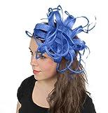 Kremena Feathers Ascot Fascinator Hat With Headband - Royal Blue