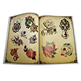 Fityle 86-pages Tattoo Flash Book Body Art Design Coloring Book