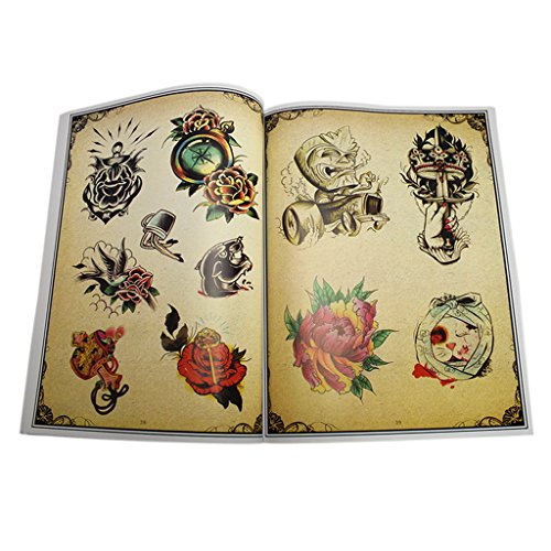 Fityle 86-pages Tattoo Flash Book Body Art Design Coloring Book by Fityle