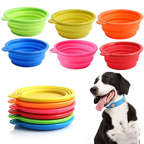 GIG Collapsible Silicone Cat Dog Pet Feeding Bowl Water Dish Feeder Portable Hot
