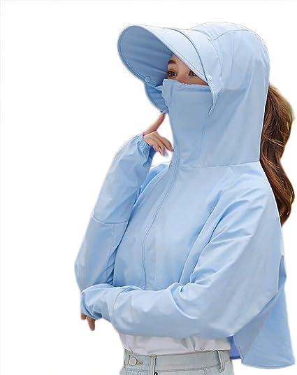 Cromoncent Womens Sport Sunscreen Outdoor Skin Coat Jackets