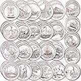 #2: 36 P National Park Quarters complete 2010-2017 with Folder Philadelphia MINT ((NEW EFFIGY QUARTER)) Extremely Fine Details