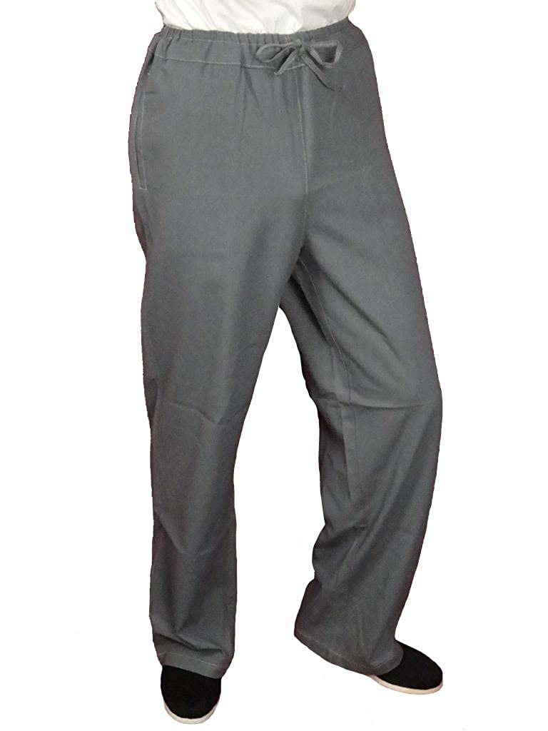 100% Cotton Grey Kung Fu Martial Arts Tai Chi Pant Trousers XS-XL or Tailor Custom Made + Free Magazine
