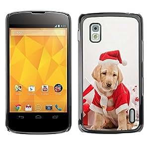 YOYO Slim PC / Aluminium Case Cover Armor Shell Portection //Christmas Holiday Cute Holiday Dog Puppy 1181 //LG Google Nexus 4