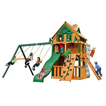 Chateau Clubhouse Treehouse Swing Set with Fort Add-On