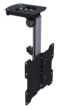 """KUMA Soporte abatible y Giratorio para Montaje en Techo o bajo armarios para televisores LCD y LED de 17"""", 19"""", 22"""", 24"""", 26"""", 29"""", 32"""" y 37"""" en Negro. Apto para Medidas VESA máximas de 200 x 200 mm."""