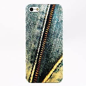 AES - Jeans Zipper Pattern Polycarbonate Hard Case for iPhone 4/4S , Multicolor