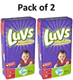 Health & Personal Care : Luvs Ultra Leakguards Newborn Diapers Size 1, 48 Count Pack of 2 (Total of 96 Pampers)