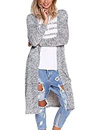Women Sweaters Open Front Lightweight Soft Knit Cardigan(10 Color S-XXL)