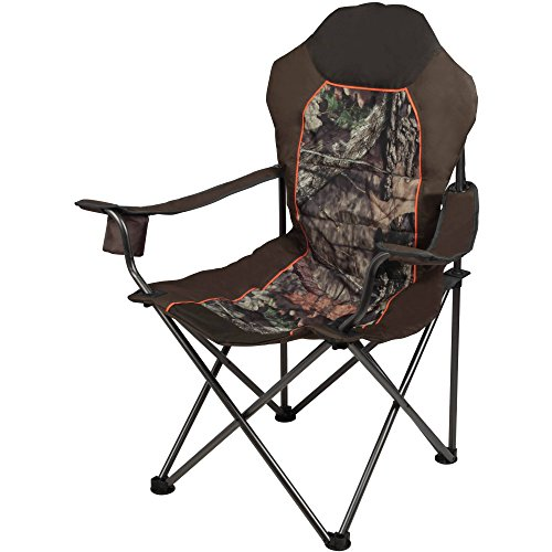 Mossy Oak Outfitter Deluxe Chair, Green - Leather Oak Folding Chair