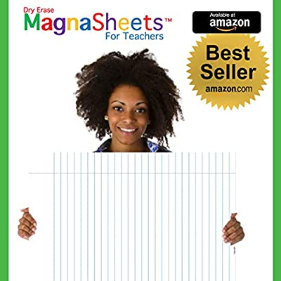 MagnaSheets (TM) for Teachers | Dry Erase Magnetic Notebook Paper for Classrooms | 28 x 22 Inches | Abaco Brands, Inc USA: Office Products