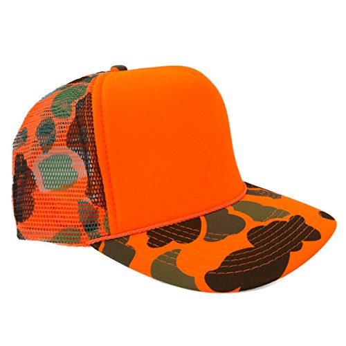 2c4240c7 Camo Hunters Hat, #1 Blaze Orange Hunting Hat! Best For Duck & Deer Hunting,  Trout & Salmon Fishing, Camping or Simply Becasue You're A Real Man!