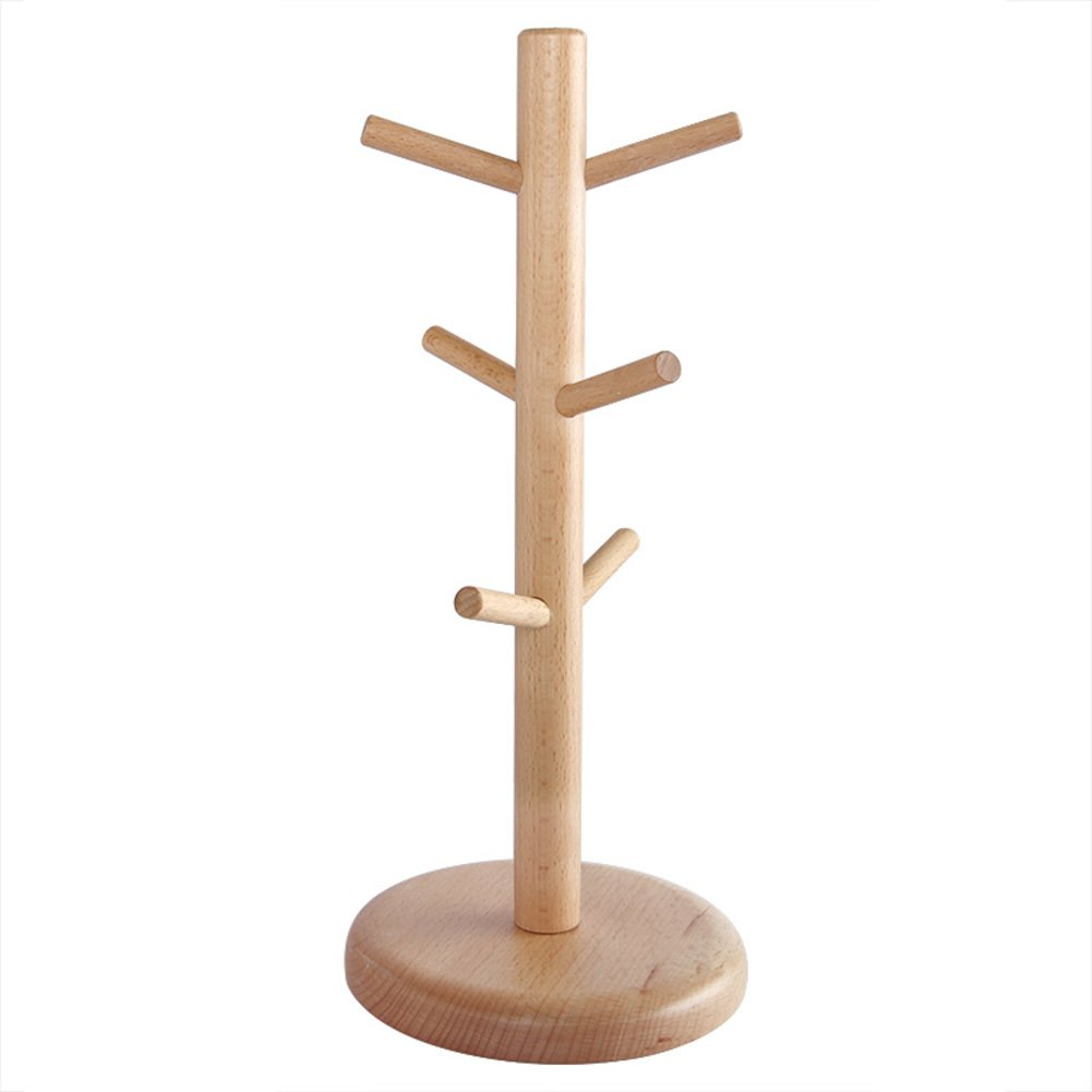 TY&WJ Mug holder wood Tree Cup Drain rack Glass Coffee cup [household] Kitchen Multifunction Senior Drying rack stand-A by TY&WJ (Image #1)