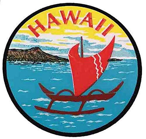 Hawaii Catamaran Vintage Decal Sticker Souvenir Skateboard Laptop