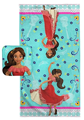 Disney Elena of Avalor Dancing Script Cotton Bath Towel/Washcloth Set by Disney