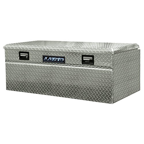Lund 9436WB 36-Inch Aluminum Wide Flush Mount Single Lid Truck Tool Box, Diamond Plated, Silver