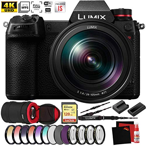 Panasonic Lumix DC-S1R Mirrorless Digital Camera with 24-105mm Lens New - Pro Photographer Bundle