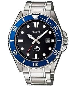 Casio MDV-106D-1A2VDF - Reloj para hombres, correa de acero inoxidable color plateado
