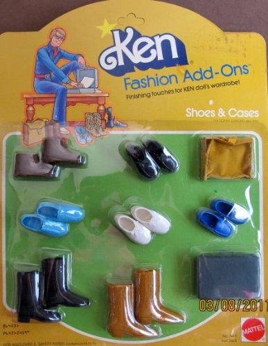 Barbie KEN Fashion Add Ons SHOES & CASES (1978 Mattel (Hawthorne Wardrobe)