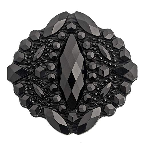Mibo Buttons & Accessories Nylon Faceted Diamond Cut Brooch Pin - 2