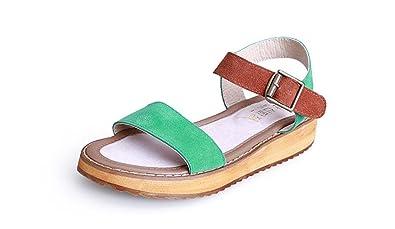 805dab93ff47 Women Sandals Flat Wedge Sandals Summer Ladies peep Toe high Heels Platform  Flipflops Heeled Sandals (