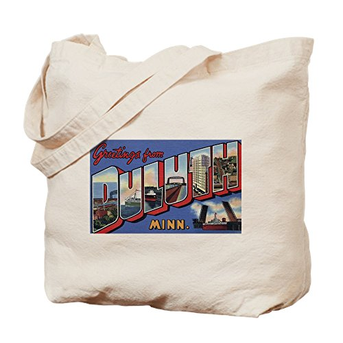 CafePress - Greetings From Duluth - Natural Canvas Tote Bag, Cloth Shopping - Duluth Shopping Mn