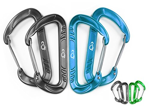 Dependable Wiregate Carabiner Aircraft Aluminum product image