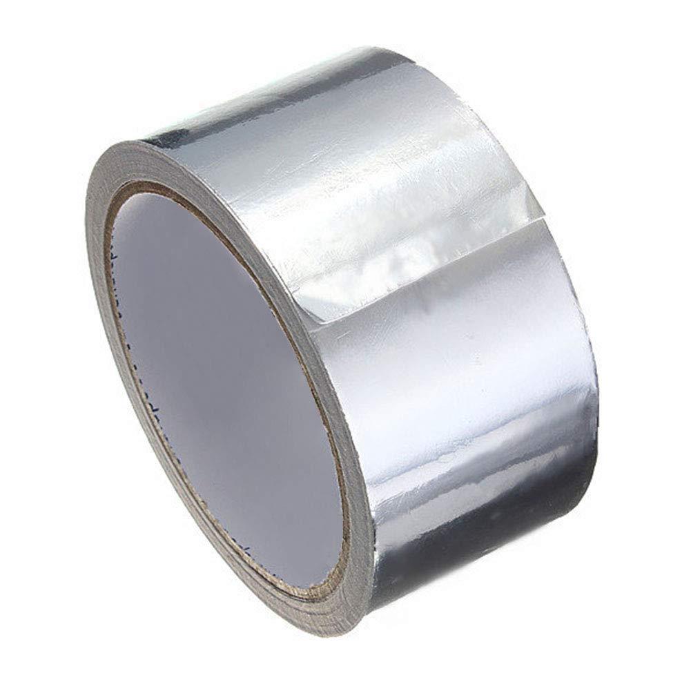 Matedepreso Nastro Thermal Resistente Rotolo Alta Temperatura Resistente Stagnola Alluminio Condotto Riparazione Utile Calore Sicuro Adesivo Sigillare Anello