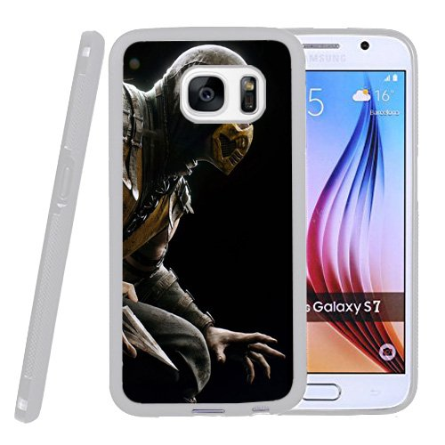 Galaxy S7 Case,Mortal Kombat Scorpion Hero Costume [Rugged Armor] Resilient Ultimate Protection from Drops and Impacts for Samsung Galaxy S7 -