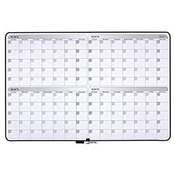 Quartet Dry Erase Board, 4-Month Planner, 23 x 35 Inches, Black Frame (05149SV)