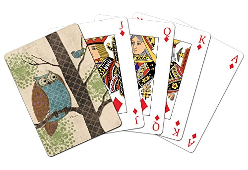 Tree-Free Greetings Standard Playing Card Deck, Fantasy Owls Panel I Themed Paul Brent Art (49514)