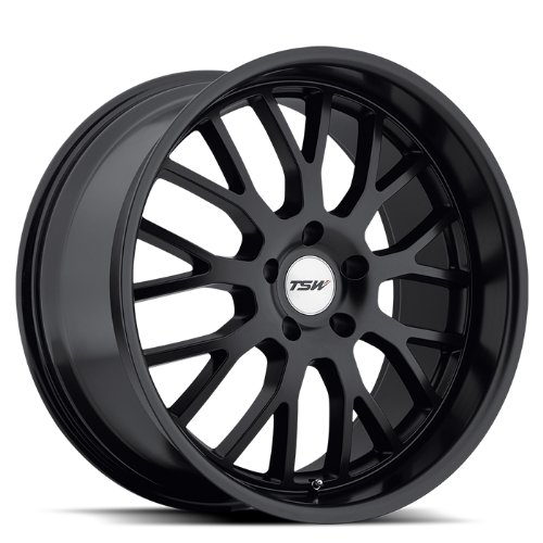 TSW Tremblant Wheel with Matte Black Finish (17 x 8. inches /5 x 114 mm, 40 mm Offset) (2012 Toyota Camry With 22 Inch Rims)
