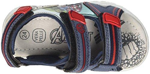 Marvel S19142h/Az, Sandalias con Punta Abierta Para Niños Blu (Jeans)