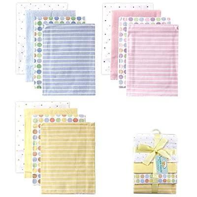 Luvable Friends 4 Count Flannel Receiving Blanket Set