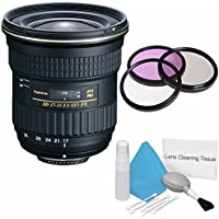 Tokina 17-35mm f/4 Pro FX Lens for Canon Cameras (International Model) No Warranty+Deluxe Cleaning Kit + 82mm 3 Piece Filter Kit Bundle 2