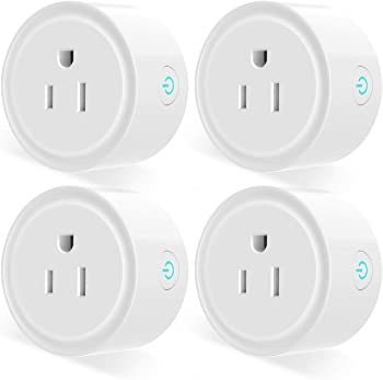 4-Pack Aoycocr WiFi Socket Outlet Compatible with Alexa